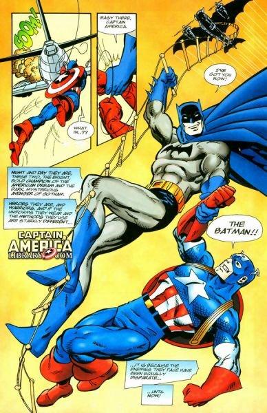 Batman / Captain America par John Byrne dans ComicsVF savedbybatmanl