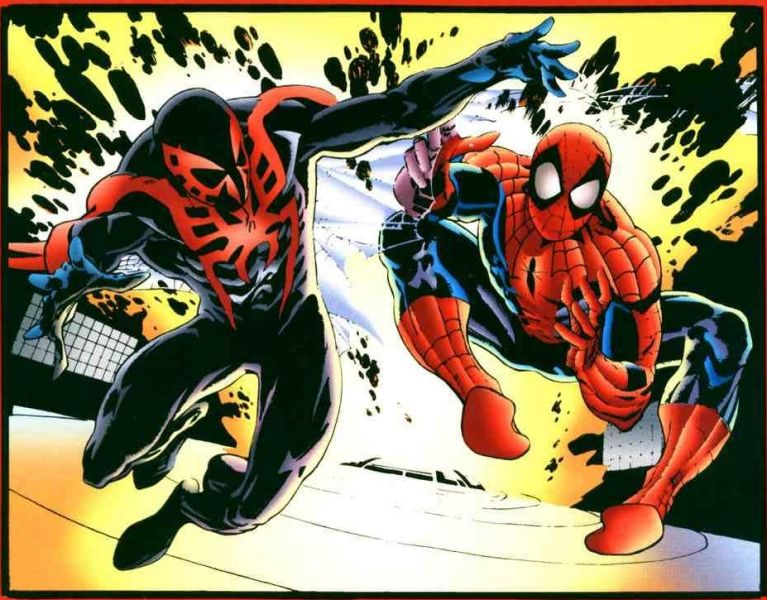 Spider-Man et Spider-Man 2099 : Les Team-Up dans ComicsVF spiderman2099meetsspidermanvol11page47