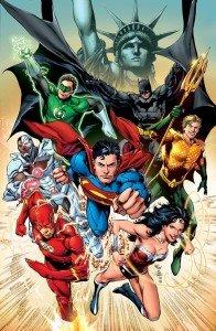 Justice League nouvelle 3D dans 3D nycc2011jlaposterreispradocolorfinal-196x300