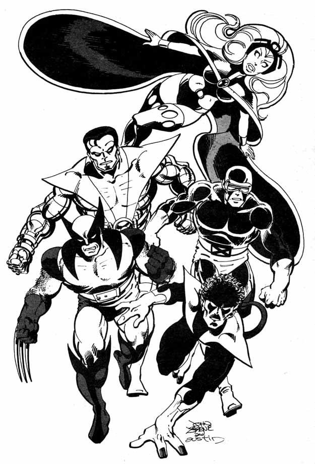 Classic X-Men en 3D période John Byrne dans 3D Byrne-X-Men-with-Classic-Storm